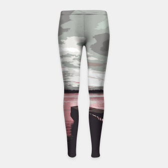 Thumbnail image of Pink Evening At The Beach Girl's leggings, Live Heroes
