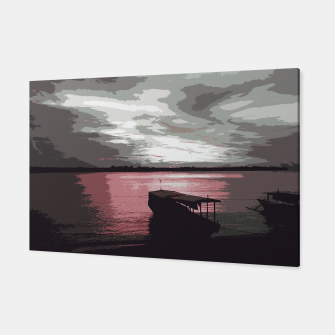 Thumbnail image of Pink Evening At The Beach Canvas, Live Heroes
