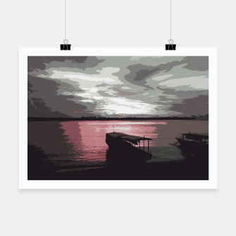 Thumbnail image of Pink Evening At The Beach Poster, Live Heroes