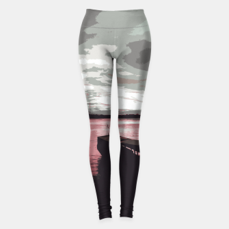 Thumbnail image of Pink Evening At The Beach Leggings, Live Heroes