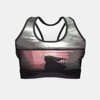 Thumbnail image of Pink Evening At The Beach Crop Top, Live Heroes