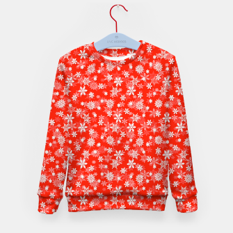 Miniatur Festive Fiesta Red and White Christmas Holiday Snowflakes Kid's sweater, Live Heroes
