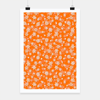 Miniatur Festive Turmeric Orange and White Christmas Holiday Snowflakes Poster, Live Heroes