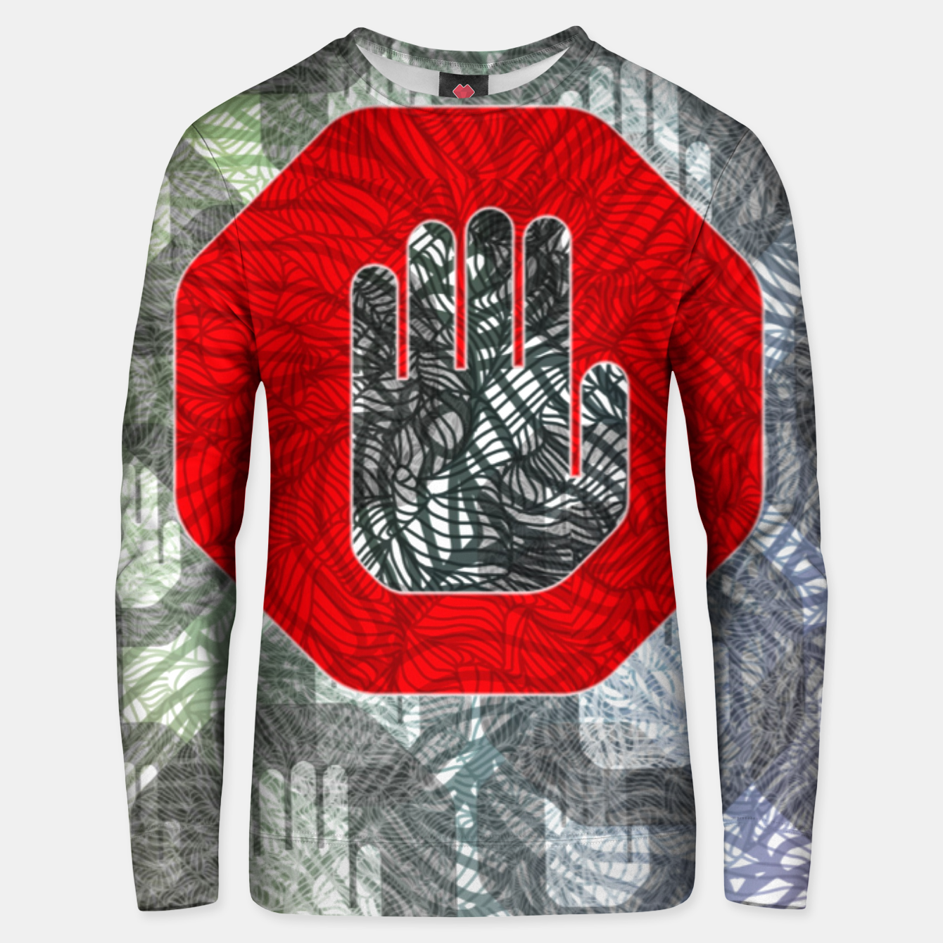 Image of STOP Unisex sweater - Live Heroes