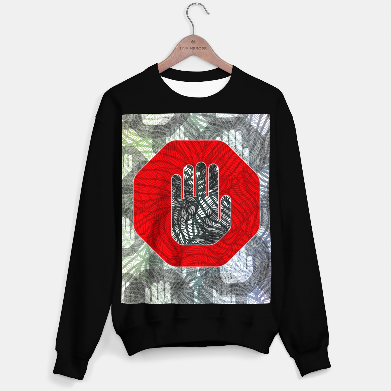 Image of STOP Sweater regular - Live Heroes
