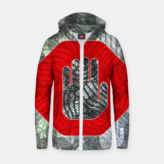 Thumbnail image of STOP Zip up hoodie, Live Heroes