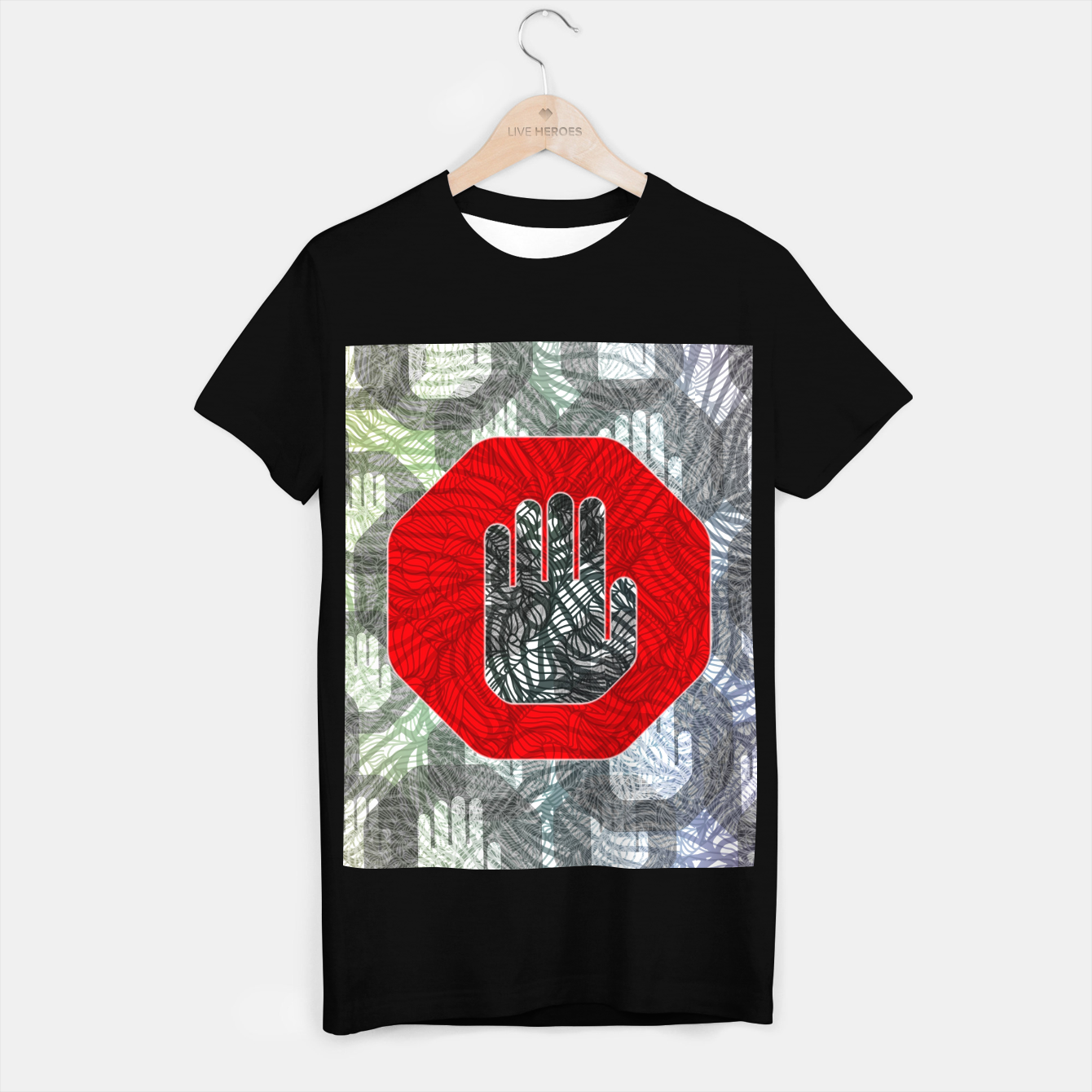 Image of STOP T-shirt regular - Live Heroes