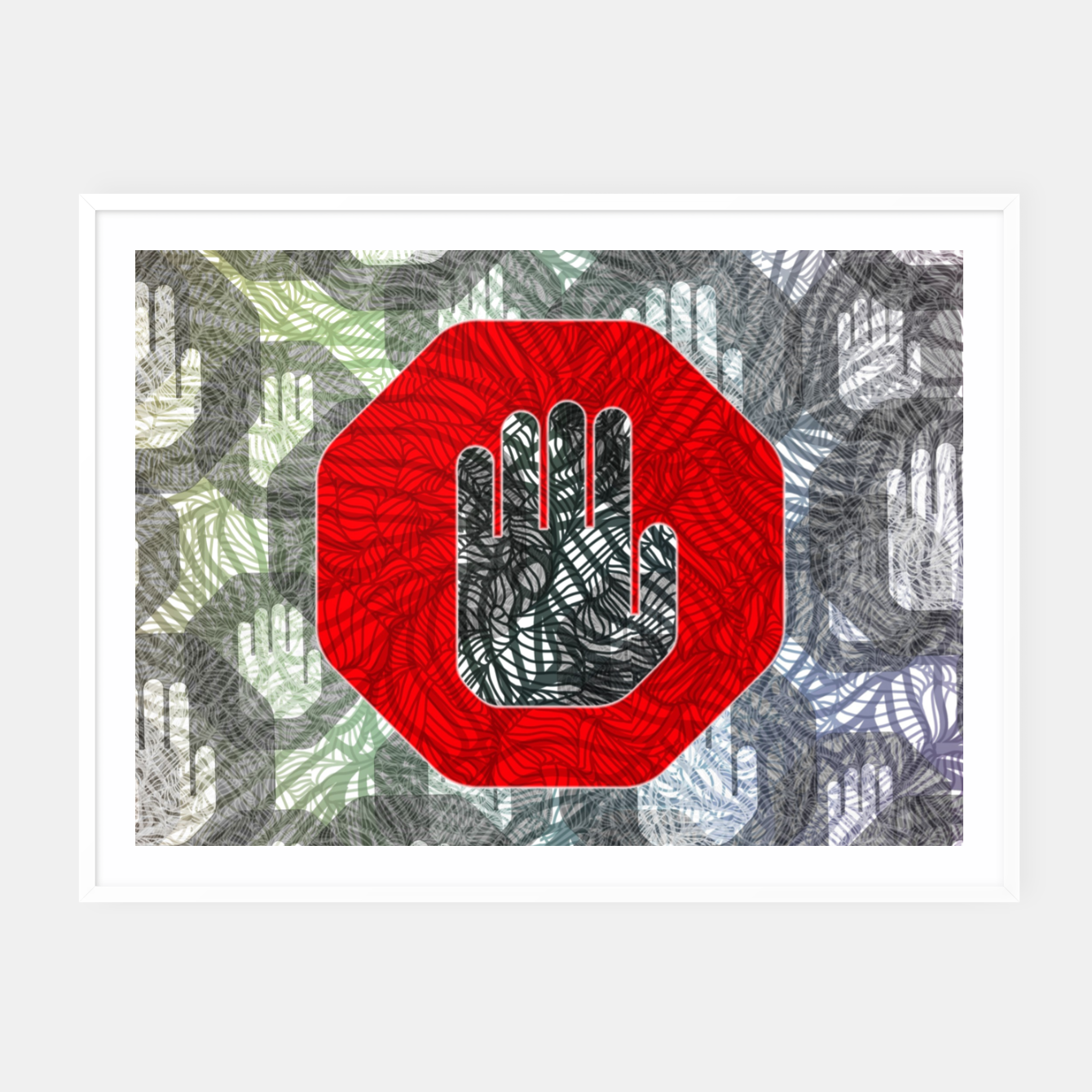 Image of STOP Framed poster - Live Heroes