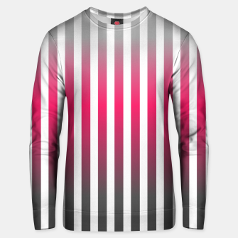 Imagen en miniatura de Vertical pinstripes in warm color scheme Unisex sweater, Live Heroes