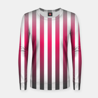 Imagen en miniatura de Vertical pinstripes in warm color scheme Women sweater, Live Heroes