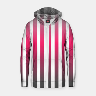 Imagen en miniatura de Vertical pinstripes in warm color scheme Zip up hoodie, Live Heroes