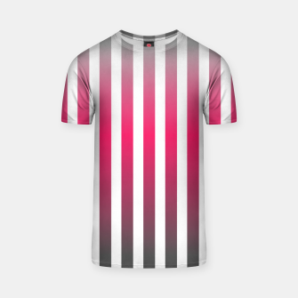 Imagen en miniatura de Vertical pinstripes in warm color scheme T-shirt, Live Heroes
