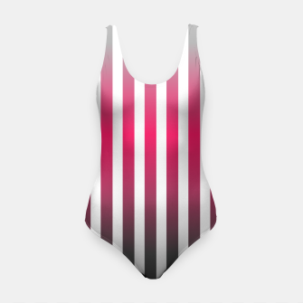 Imagen en miniatura de Vertical pinstripes in warm color scheme Swimsuit, Live Heroes