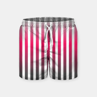 Imagen en miniatura de Vertical pinstripes in warm color scheme Swim Shorts, Live Heroes