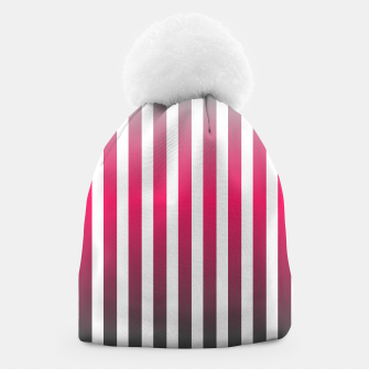 Thumbnail image of Vertical pinstripes in warm color scheme Beanie, Live Heroes