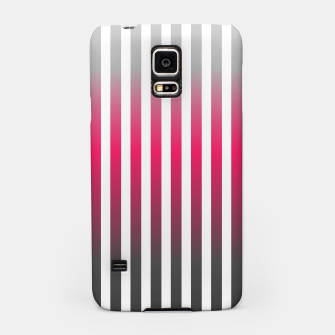 Imagen en miniatura de Vertical pinstripes in warm color scheme Samsung Case, Live Heroes