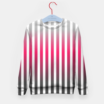 Imagen en miniatura de Vertical pinstripes in warm color scheme Kid's sweater, Live Heroes