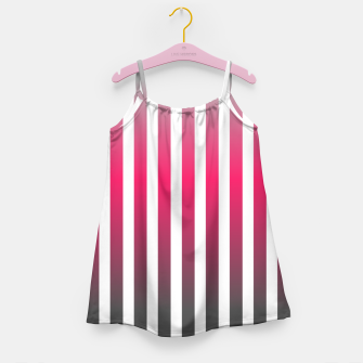 Imagen en miniatura de Vertical pinstripes in warm color scheme Girl's dress, Live Heroes