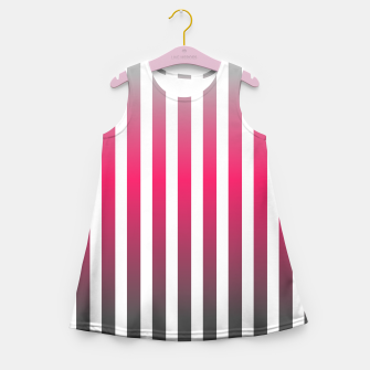 Imagen en miniatura de Vertical pinstripes in warm color scheme Girl's summer dress, Live Heroes