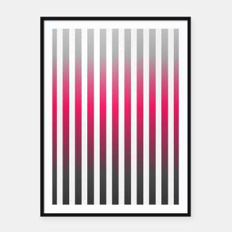 Imagen en miniatura de Vertical pinstripes in warm color scheme Framed poster, Live Heroes