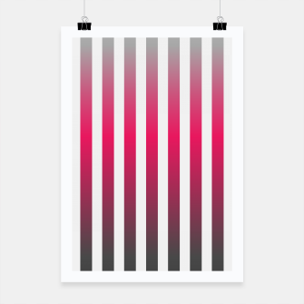 Thumbnail image of Vertical pinstripes in warm color scheme Poster, Live Heroes