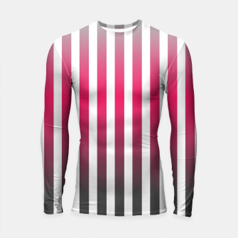 Thumbnail image of Vertical pinstripes in warm color scheme Longsleeve rashguard , Live Heroes