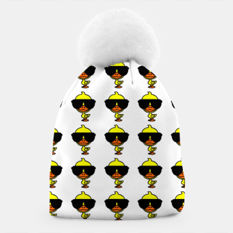 Thumbnail image of Cool Duck Pattern White Mütze, Live Heroes