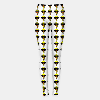 Thumbnail image of Cool Duck Pattern White Leggings, Live Heroes