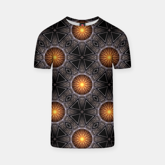 Thumbnail image of Golden Orb Tower Pattern 00120150507220114 T-shirt, Live Heroes