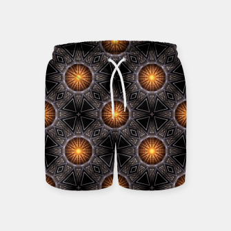Thumbnail image of Golden Orb Tower Pattern 00120150507220114 Swim Shorts, Live Heroes