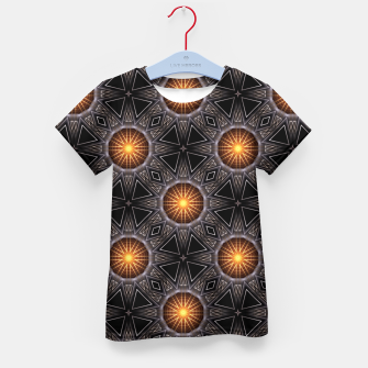 Thumbnail image of Golden Orb Tower Pattern 00120150507220114 Kid's t-shirt, Live Heroes