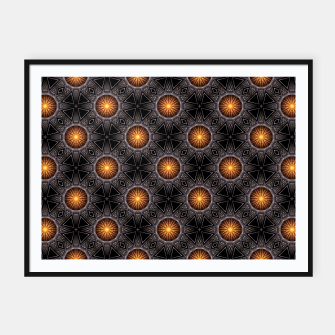 Thumbnail image of Golden Orb Tower Pattern 00120150507220114 Framed poster, Live Heroes