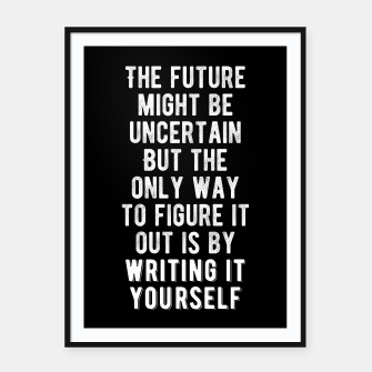 Thumbnail image of Inspirational - Write Your Future Framed poster, Live Heroes