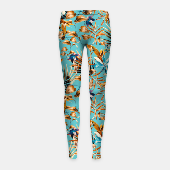 Thumbnail image of Pattern botanical exotic - 02 Leggings para niña, Live Heroes