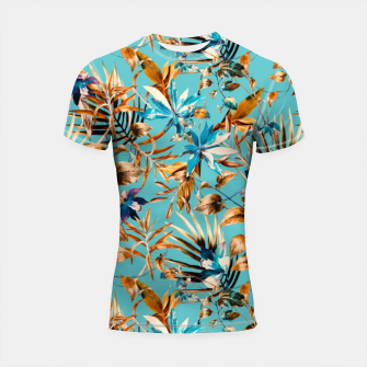 Thumbnail image of Pattern botanical exotic - 02 Shortsleeve rashguard, Live Heroes