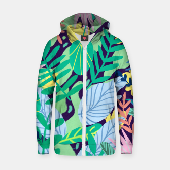 Thumbnail image of Wild Garden Zip up hoodie, Live Heroes