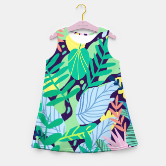 Miniatur Wild Garden Girl's summer dress, Live Heroes