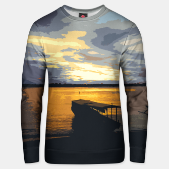 Thumbnail image of Gold Evening At The Beach Unisex sweater, Live Heroes
