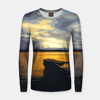 Thumbnail image of Gold Evening At The Beach Women sweater, Live Heroes