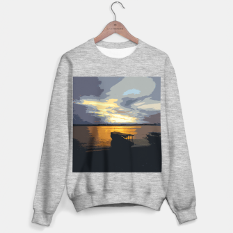Thumbnail image of Golden Evening At The Beach Sweater regular, Live Heroes