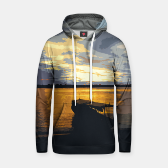 Thumbnail image of Golden Evening At The Beach Hoodie, Live Heroes