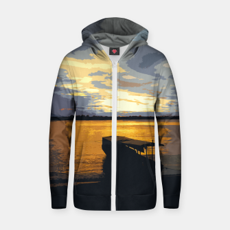 Thumbnail image of Golden Evening At The Beach Zip up hoodie, Live Heroes