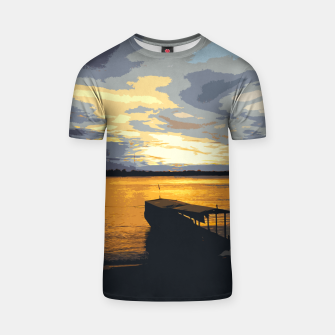 Thumbnail image of Golden Evening At The Beach T-shirt, Live Heroes