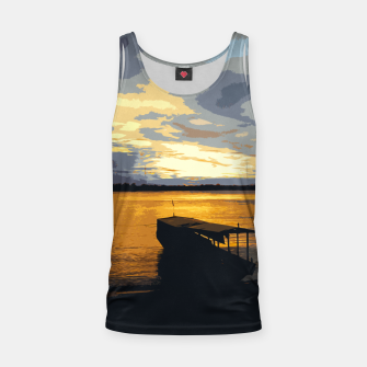 Thumbnail image of Golden Evening At The Beach Tank Top, Live Heroes