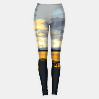 Thumbnail image of Golden Evening At The Beach Leggings, Live Heroes