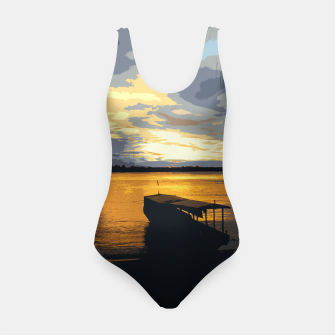 Thumbnail image of Golden Evening At The Beach Swimsuit, Live Heroes