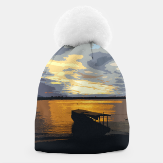 Thumbnail image of Golden Evening At The Beach Beanie, Live Heroes