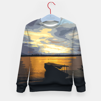 Thumbnail image of Golden Evening At The Beach Kid's sweater, Live Heroes