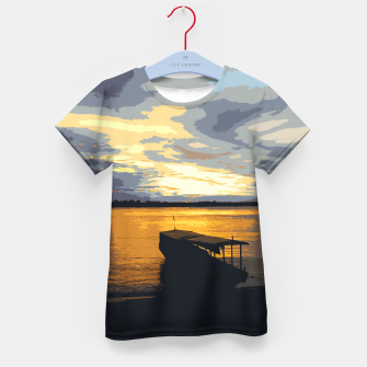 Thumbnail image of Golden Evening At The Beach Kid's t-shirt, Live Heroes