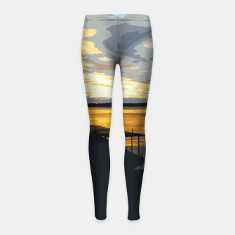 Thumbnail image of Golden Evening At The Beach Girl's leggings, Live Heroes